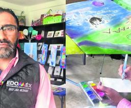 Hijos de víctimas del delito usan pintura como terapia