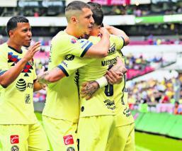 águilas américa ganan vencen monterrey partido marcador resumen goles sin piedad estadio azteca