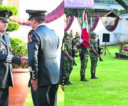 Agustín Vallejo Silva toma protesta como nuevo comandante de la 24 Zona Militar