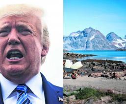 Donald Trump quiere comprar Groenlandia políticos aseguran que se volvió loco