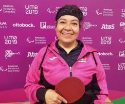 claudia perez oro mexico parapanamericanos tenis de mesa