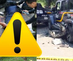 policia amputado pierna cdmx alvaro obregon choque patrullas