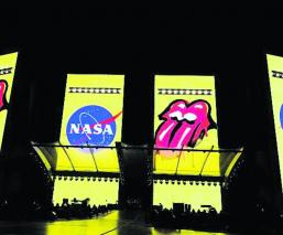 stones nasa rock and roll