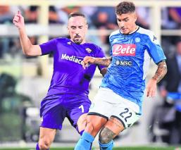 nápoli partido victoria futbol serie A debut Fiorentina futbol italiano