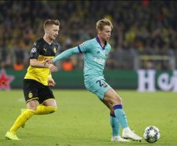Barcelona empata ante el Borussia Dortmund en Champions League