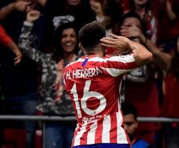 Técnico del Atlético de Madrid satisfecho con el gol de Herrera