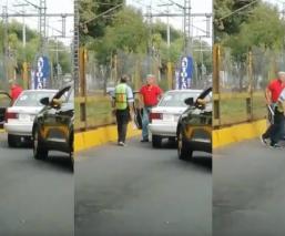 taxista amenaza machete viene viene Xochimilco