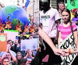 estudiantes líderes indígenas calentamiento global