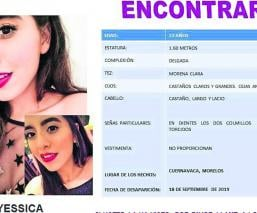 buscan familiares a Yessica