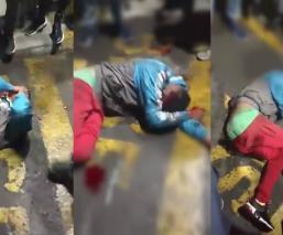 Chalco desnudan golpean ladrón farmacia
