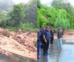 Carretera Ixtapan de la Sal-Tenancingo deslave