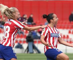 Gol de Charlyn Corral le da el triunfo al Atlético en derbi de Madrid
