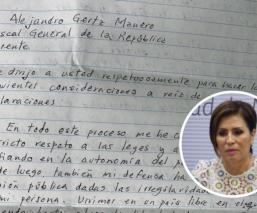 rosario robles, carta, FGR, Gertz Manero