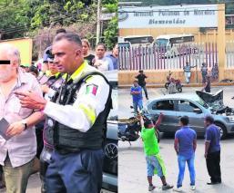 Atropellan manifestante Morelos