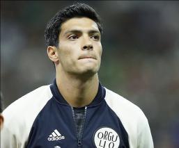 Raúl durante un juego con la Selección Nacional