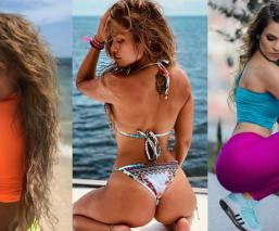 bailarina venga la alegria Jenny García en Instagram famosas en tanga