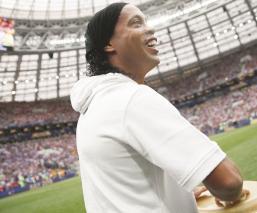 Ronaldinho se reúne con el presidente del Barcelona