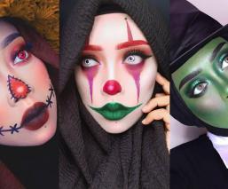 Reina cosplay maquillaje hiyab