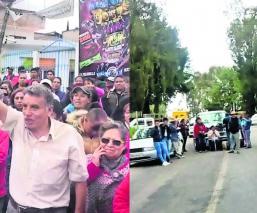 Deudores de luz San Pedro Zictepec bloquean carretera