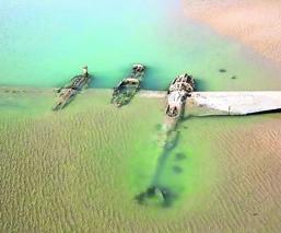 Emerge en aguas de Gales un avión caído en la Segunda Guerra Mundial