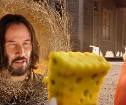 Keanu Reeves aparece en el trailer de Bob Esponja Al rescate