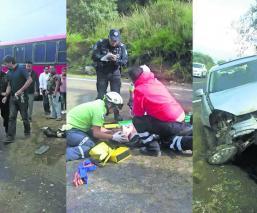 Carretera Tenango-Jajalpa accidente volcadura de coche