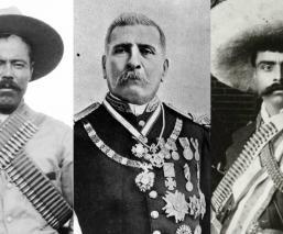 personajes revolución mexicana muerte porfirio díaz emiliano zapata francisco villa francisco I Madero