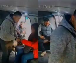 asalto combi pasajeros bulevard puerto aereo asaltantes video avenida zaragoza