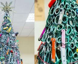 Árbol navideño artículos confiscados
