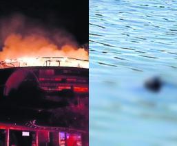 hotel el santuario llamas incendio empleado muere ahogado