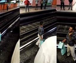 Borracho avienta a policía a las vías del Metro Jamaica en CDMX; se suspendió el servicio