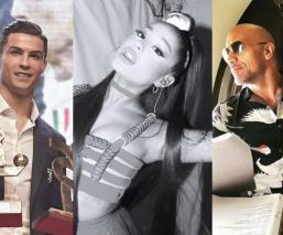 Cristiano Ronaldo Ariana Grande seguidores Instagram