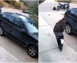 ladrón roba paquete navidad casa se le cae pantalón