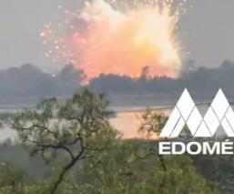 Difunden video del momento exacto en que estalló polvorín de pirotecnia en Zumpango