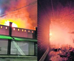 Incendio en el Mercado de las Flores en Xochimilco deja 12 locales calcinados