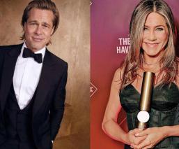 Brad Pitt y Jennifer Aniston se felicitan por su galardón en los SAG Awards 2020