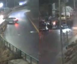 Video: Conductor del Edomex se vuelca en Naucalpan y casi arroya a otro