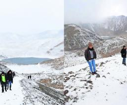 Autoridades del Edomex cierran acceso al Nevado de Toluca por caída de nieve y granizo