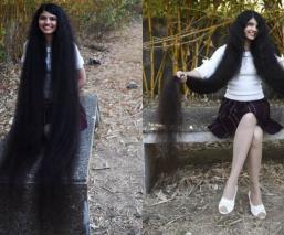 cabello más largo del mundo rapunzel