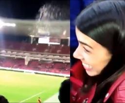 #LadyCerveza se hace famosa por incitar violencia en el estadio de Chivas