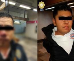 Tras regañarlo por orinarse en el Metro, joven muerde la nariz de un policía en CDMX