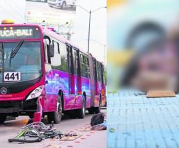 Ciclista se estrella de frente contra Metrobús en GAM; sospechan que lo distrajo el cel