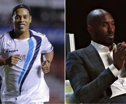 Ronaldinho y Kobe Bryant