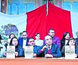 Lideres transportistas señalan que legisladores no podrán cancelar tarifazo, en Edomex