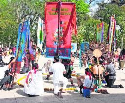 Danzantes del Edomex celebran el inicio de la última veintena del calendario mexica
