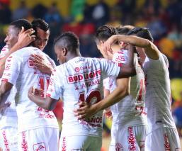 Xolos festeja un gol en un partido de la Liga MX