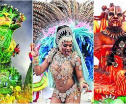 Carnaval de Sao Paulo se inundó de colores y protestas, en su primera noche