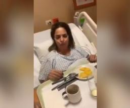 Ana María Alvarado sufre accidente cerebrovascular y graba video desde el hospital