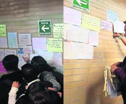Tendedero de denuncias de alumnas en la UAEMex sobre acosos es removido por autoridades