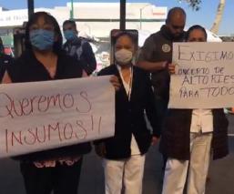 En Toluca, personal médico exigen seguridad e insumos suficientes contra el Covid-19